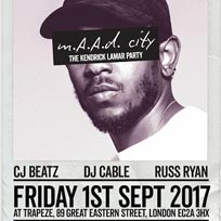m.A.A.d City  at Trapeze on Friday 1st September 2017