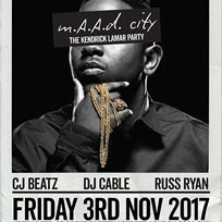 m.A.A.d City  at Trapeze on Friday 3rd November 2017