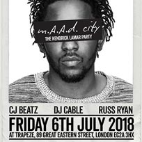 m.A.A.d City  at Trapeze on Friday 6th July 2018