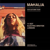 Mahalia at Electric Brixton on Thursday 11th October 2018