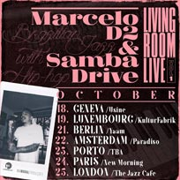 Marcelo D2 & Sambadrive at Jazz Cafe on Wednesday 25th October 2017