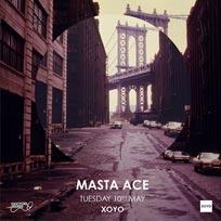 Masta Ace at XOYO on Tuesday 10th May 2016