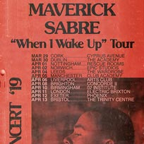 Maverick Sabre at Electric Brixton on Thursday 11th April 2019