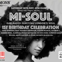 Mi-Soul Birthday Celebration at Solomons Yard on Saturday 16th July 2016