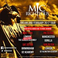 Mic Righteous at Camden Assembly on Wednesday 1st February 2017