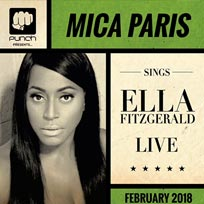 Mica Paris sings Ella Fitzgerald at Islington Assembly Hall on Sunday 11th February 2018