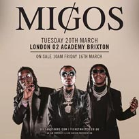 Migos at Brixton Academy on Tuesday 20th March 2018