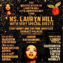 Lauryn Hill at The o2 on Monday 3rd December 2018