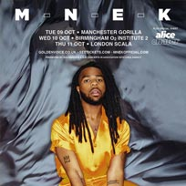 Mnek at Scala on Thursday 11th October 2018
