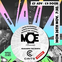 MOE Presents at The Ritzy on Monday 26th November 2018