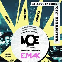 MOE Presents at The Ritzy on Tuesday 19th December 2017