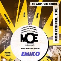 MOE Presents at The Ritzy on Monday 25th February 2019