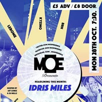 MOE Presents at The Ritzy on Monday 28th October 2019