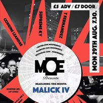 MOE Presents at The Ritzy on Monday 29th August 2016