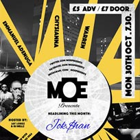 MOE Presents at The Ritzy on Monday 30th October 2017