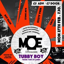 MOE Presents at The Ritzy on Monday 27th February 2017