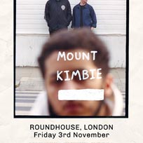 Mount Kimbie at The Roundhouse on Friday 3rd November 2017