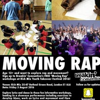 Moving Rap Workshop at Rich Mix on Friday 5th August 2016