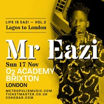 Mr Eazi at Brixton Academy on Sunday 17th November 2019