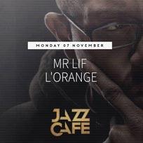 Mr Lif & L'Orange at Jazz Cafe on Monday 7th November 2016