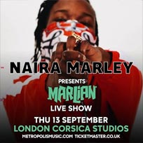 Naira Marley at Corsica Studios on Thursday 13th September 2018