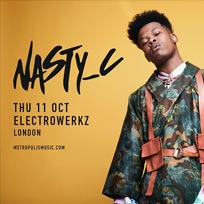 Nasty C at Electrowerkz on Thursday 11th October 2018