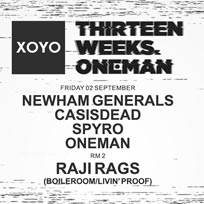 Newham Generals at XOYO on Friday 2nd September 2016