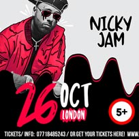 Nicky Jam at Wembley Arena on Saturday 26th October 2019