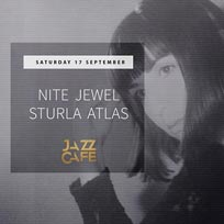 Nite Jewel at Jazz Cafe on Saturday 17th September 2016