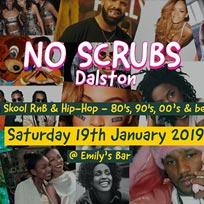 No Scrubs at Emily's Bar on Saturday 19th January 2019