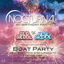 Nocturnal Boat Party at Festival Pier on Saturday 5th November 2016