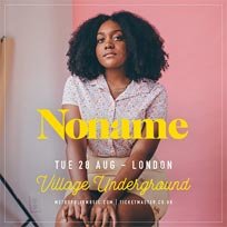 Noname at Village Underground on Tuesday 28th August 2018