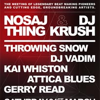 Nosaj Thing at Village Underground on Saturday 31st March 2018
