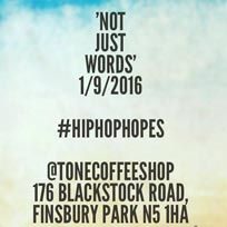Not Just Words at TONE on Thursday 1st September 2016