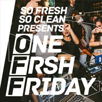 One Frsh Friday at Concrete on Friday 10th November 2017