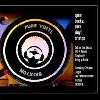 Open Decks at Pure Vinyl on Thursday 17th January 2019