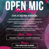 Open Mic Mondays at The Fiddler's Elbow on Monday 30th September 2019