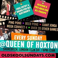 OSS: The Birthday Spot at Queen of Hoxton on Sunday 2nd June 2019