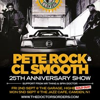Pete Rock & CL Smooth at Jazz Cafe on Monday 5th September 2016
