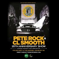 Pete Rock & CL Smooth at The Garage on Friday 2nd September 2016