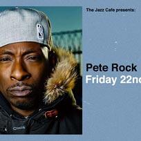 Pete Rock at Jazz Cafe on Friday 22nd November 2019