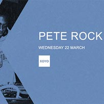 Pete Rock at XOYO on Wednesday 22nd March 2017