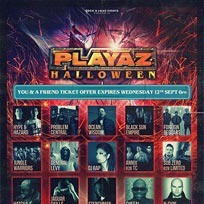 Playaz Halloween at Brixton Academy on Saturday 27th October 2018
