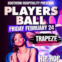 Players Ball at Trapeze on Friday 24th February 2017