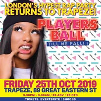 Players Ball at Trapeze on Friday 25th October 2019
