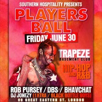 Players Ball at Trapeze on Friday 30th June 2017