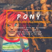 Pony at The Macbeth on Saturday 27th October 2018