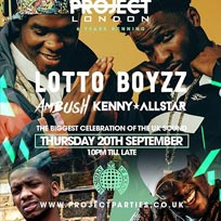 Project London at Ministry of Sound on Thursday 20th September 2018