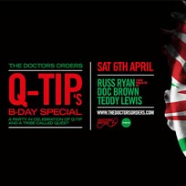 Q-Tip?s B-Day Special at Book Club on Saturday 6th April 2019