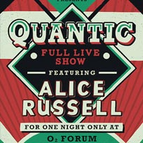 Quantic + Alice Russell at The Forum on Thursday 16th March 2017